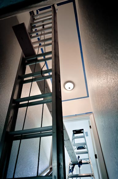 Paint It Proper How To Paint A Tall Stairwell Grey