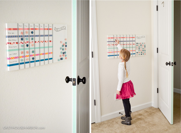 Diy Magnetic Dry Erase Kids Chore Chart Grey House Harbor