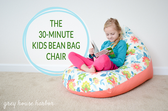How to sew a kids bean bag chair in 30 minutes